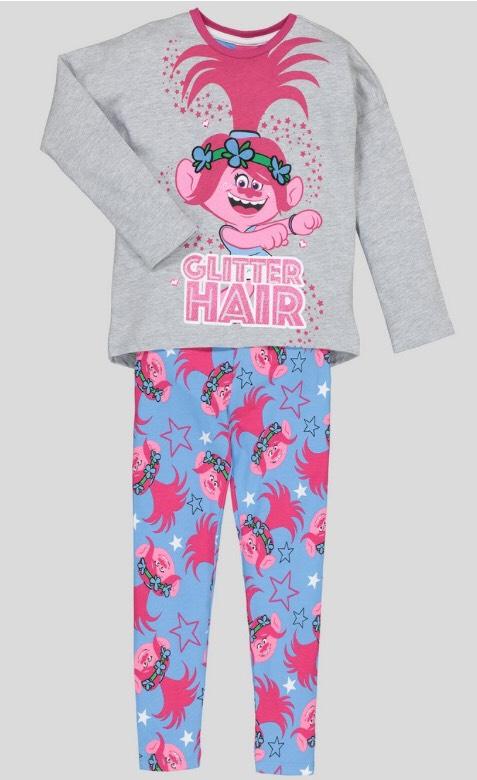 Trolls Pink Pyjamas - 5-6, 7-8, 9-10Years £6 @ Argos