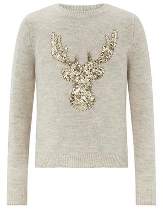 Lovely children's gold reindeer jumper £25.60 ' Monsoon