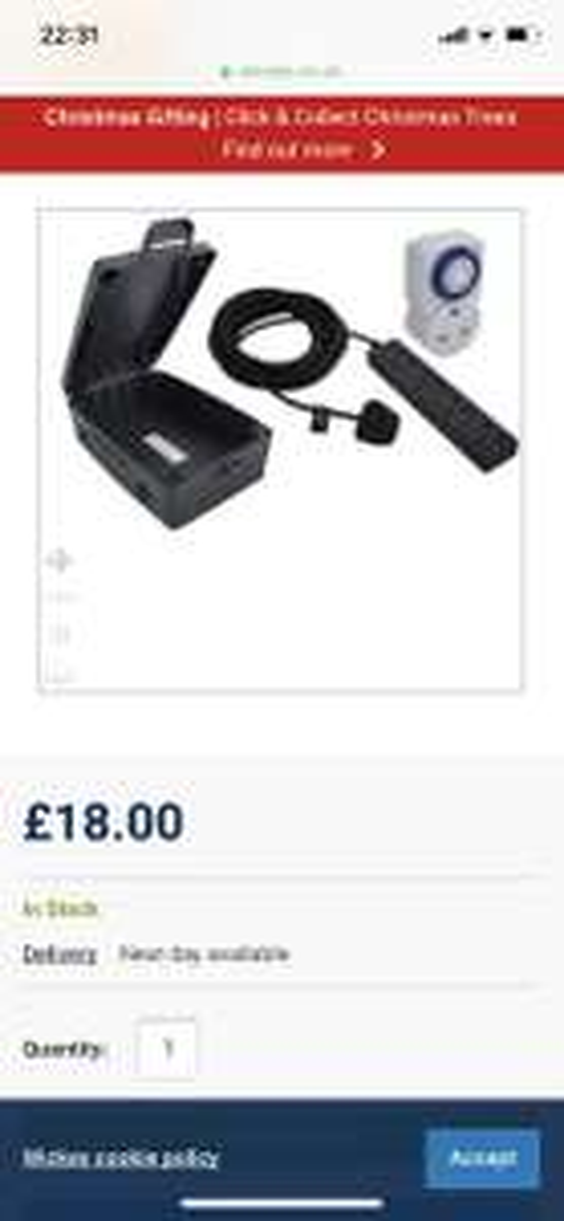 Masterplug Weatherproof 4 Socket Extension Lead Box Kit - 8m £18 @ Wickes