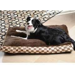 Kingpets Chequer Plush Mattress Dog Bed - 96 x 70cm @ Pet planet £19.99