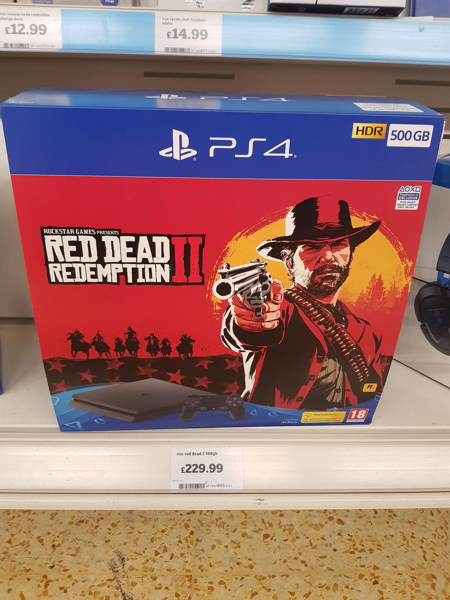 PS4 slim 500gb RD2D bundle Sainsburys in-store £229.99