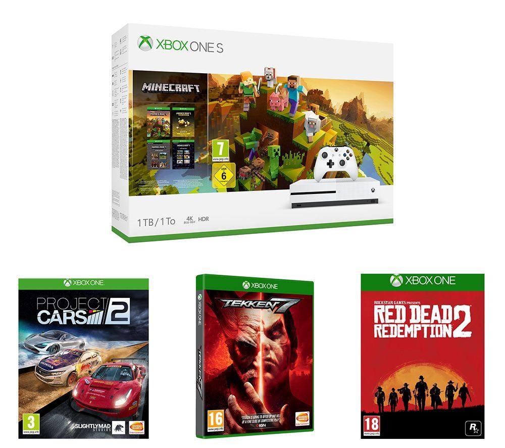 Xbox One S 1TB, Minecraft, Red Dead Redemption 2, Tekken 7 & Project Cars 2 Bundle £194.99 @ Currys PC world online
