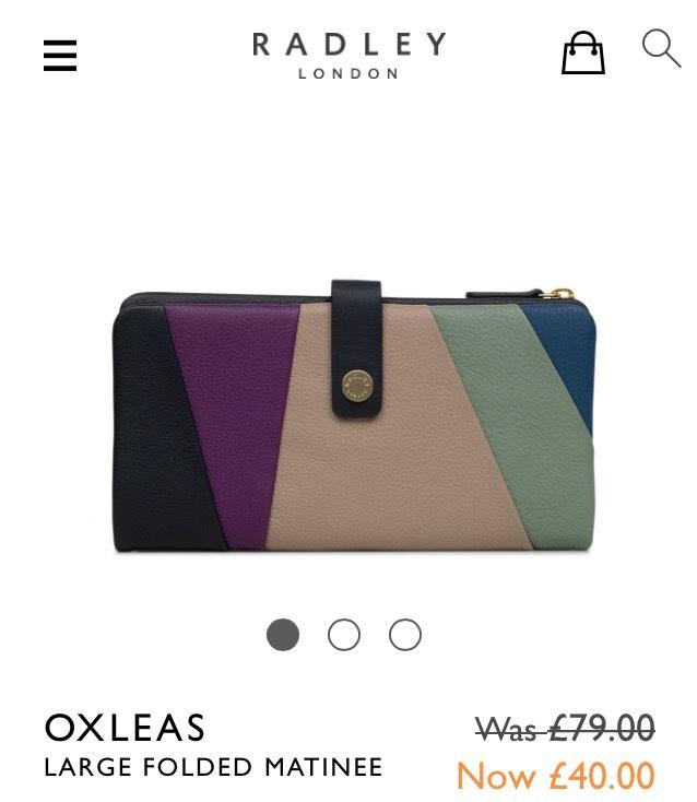 Radley oxleas large folded  matinee purse £40 @ Radley