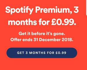 3 months spotify for 99p