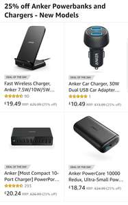 25% off Anker Powerbanks and Chargers - New Models Sold by AnkerDirect and Fulfilled by Amazon