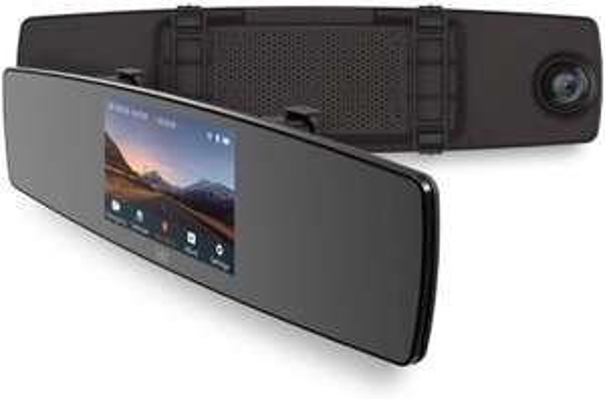 "YI Mirror Dash Cam 1080P Wi-Fi 4.3"" Touchscreen 138° Angle In Car Camera 4G All-Glass Lens Dashboard Camera @ amazon"