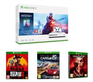 MICROSOFTXbox One S, Battlefield V, Tekken 7, Project Cars 2 & Red Dead Redemption 2 Bundle @ pc world/Curry's £194.99