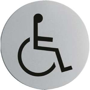 Stainless steel Disabled sign 22p Inc delivery (not usually free) @ Nisbets
