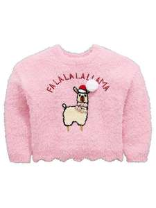 Adorable girls Llama Cristmas Jumper @ Very REDUCED with quidco