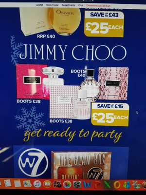 Jimmy Choo Fragrances £25 @ The original factory outlet
