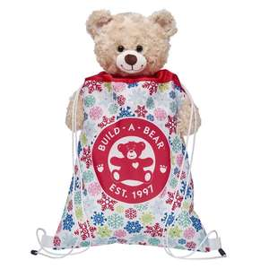 Snowflakes Reusable Drawstring Backpack - £2.80 delivered w/code @ Build a bear