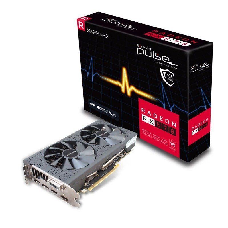Sapphire AMD Radeon RX 570 4GB PULSE Graphics Card £140.99 @ ebuyer