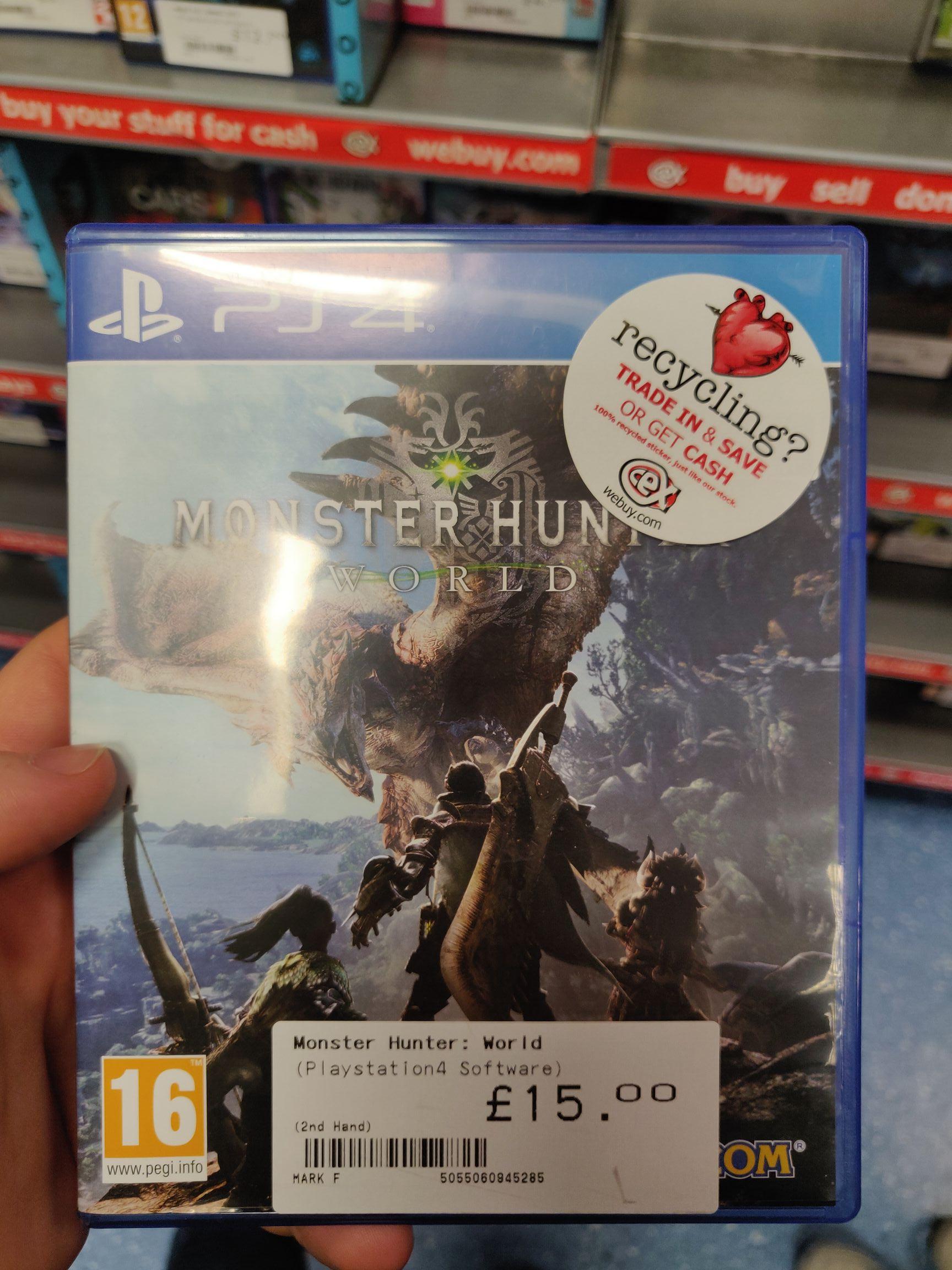 Monster Hunter World £15 @ CEX (pre-owned)