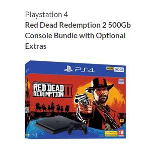 Playstation 4 Red Dead Redemption 2 500Gb Console Bundle With Optional Extras. £229.99 @ Very