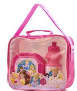 Disney princess Lunch bag with bottle and box £7.99 free p+p.Also paw patrol/unicorn/Spider-Man- see OP @ Shoe zone