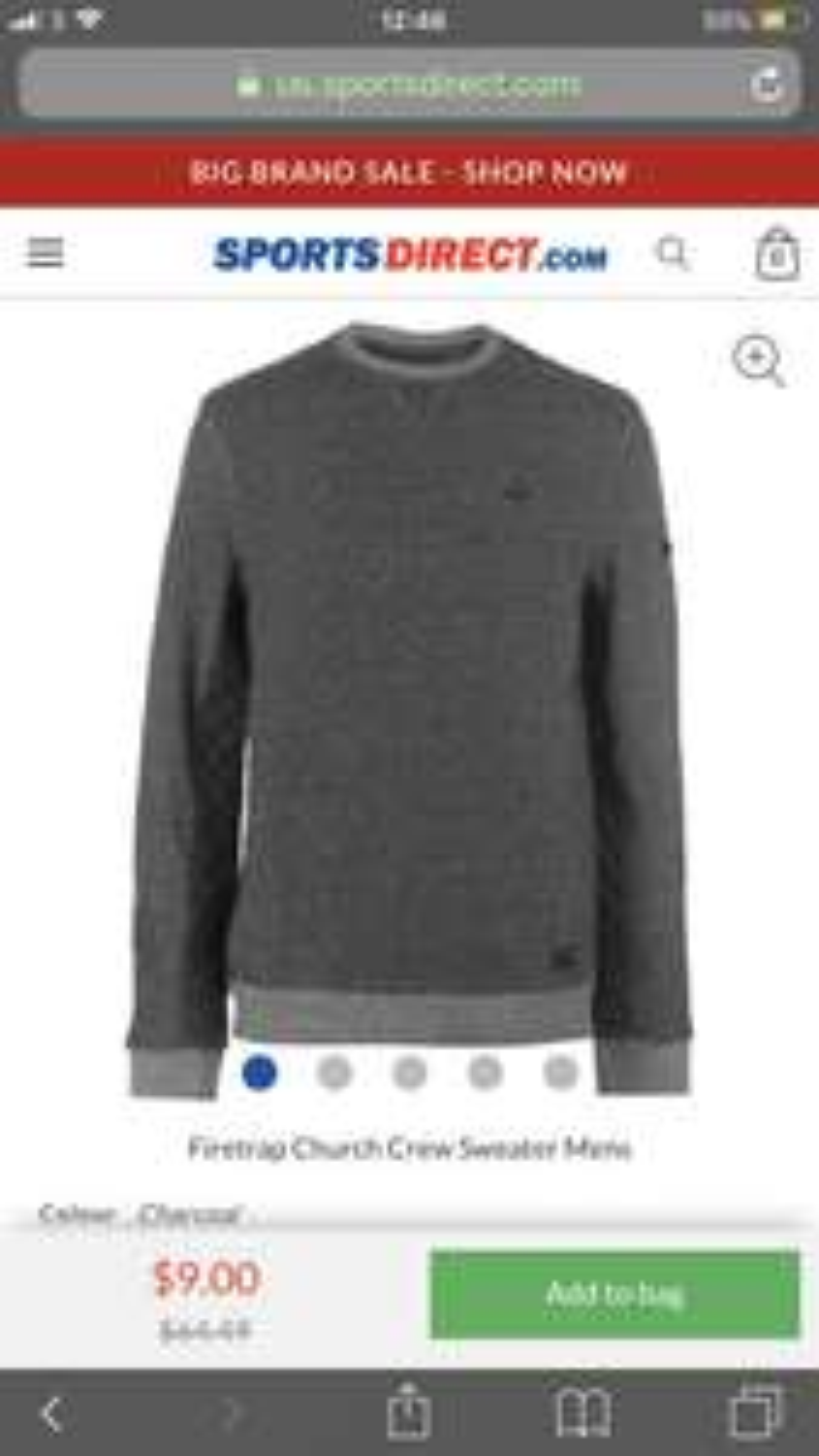 Firetrap Church Crew Sweater Men £6 RRP £42.99 @ Sports direct - £10.99 delivered