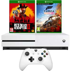 Xbox One S 1TB with Red Dead Redemption 2 (Disc) and Forza Horizon 4 (Digital Download) - White @ AO