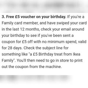 Ikea £5 birthday voucher code!!!