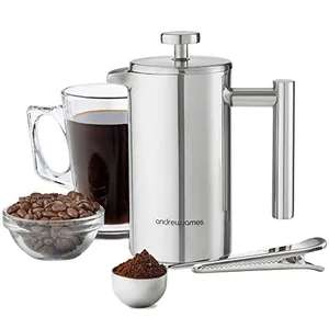 Andrew James Cafetiere French Press in Stainless Steel 1000ml (6 Cup) £20.99 @ Amazon Dispatched from and sold by Andrew James UK LTD