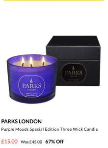 51b25b1e2ad7 67% off PARKS LONDON Purple Moods Special Edition Three Wick Candle £15   £