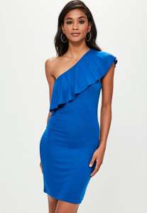blue one shoulder cut-out waist midi dress £3 + £2.99 delivery @ Missguided