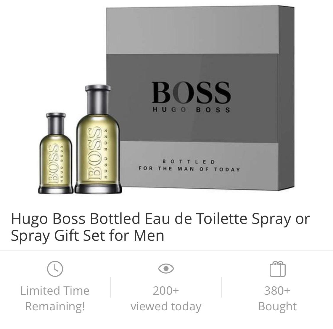 Hugo Boss Bottled Eau de toilette 30ml & 100ml  £53.97 delivered @ Groupon