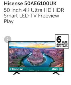 Hisense 50 inch 4k tv. £329 with code @ Richer Sounds