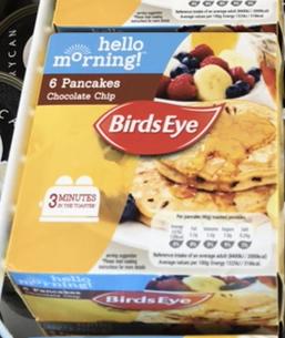 Birds Eye 6 Chocolate Chip Pancakes 240G only 75p @ Heron