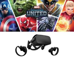 Oculus Rift Virtual Reality Headset with Touch Controllers + 2 Sensors and MARVEL Powers United VR Special Edition Bundle £349.99 @ Argos