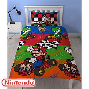 Mario Kart Single Duvet Set £9.99 @ Home Bargains