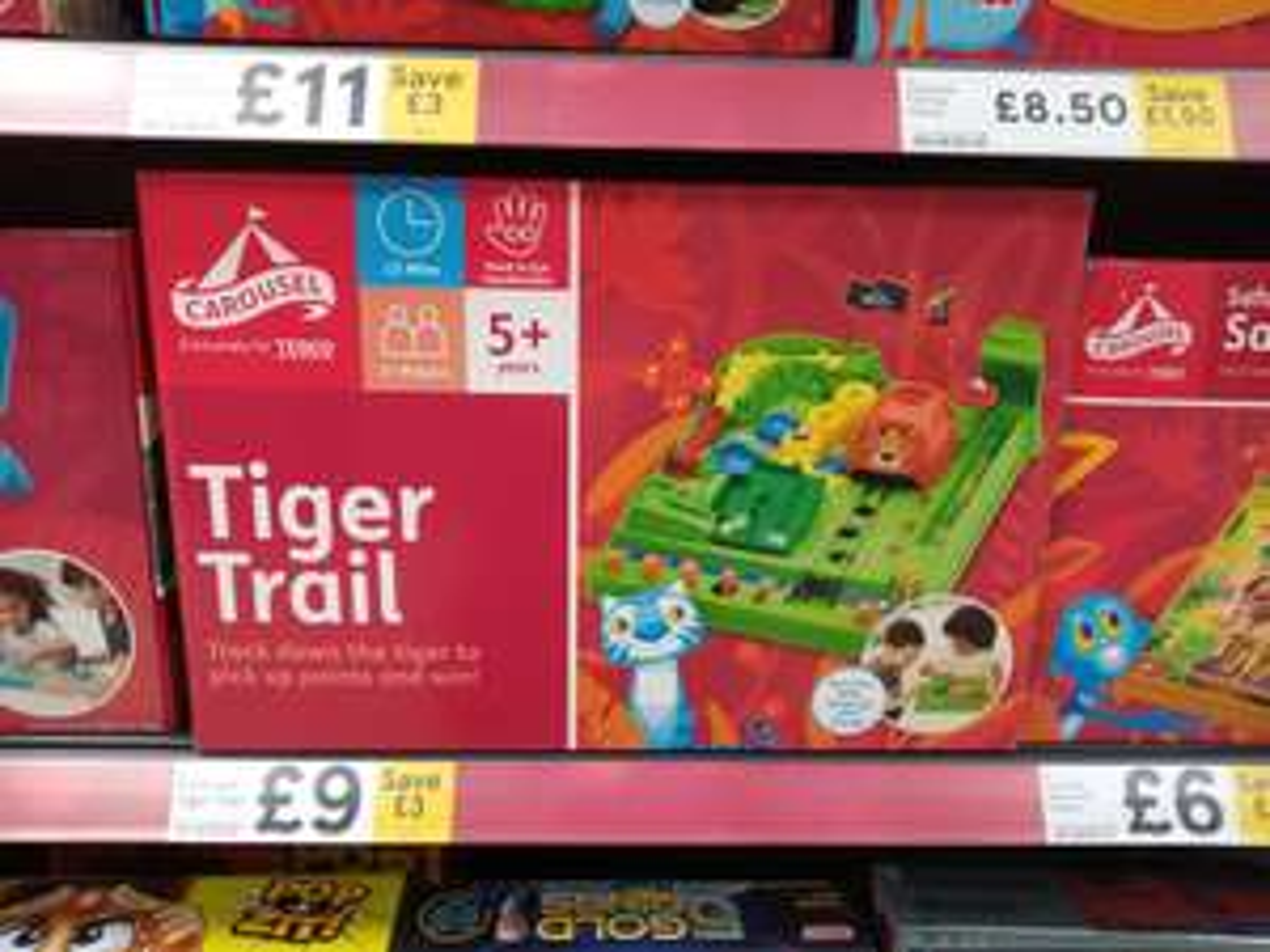 Tiger Trail - Tesco's Own-Brand Equiv. of Screwball Scramble | £9 (Was £12) Instore @ Tesco Extra vs. £15.99 @ Amazon for Screwball Scramble