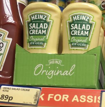 Heinz Salad Cream 425G only 89p @ Poundstretcher