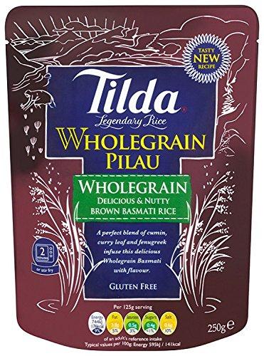 Tilda Steamed Basmati Wholegrain Pilau Rice 250 g (Pack of 6) @ Amazon Add On £4.74