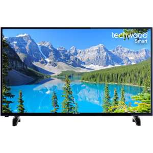 "Techwood 50AO7USB 50"" Smart TV with Freeview Play - Black - [A+ Rated] at ao.com for £299"
