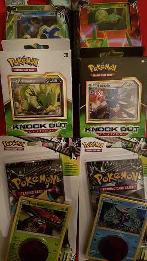 Pokemon theme deck £4.50 knockout collection £4.00 and Celestial storm booster packs £2.00 Asda local Newcastle Mill Lane not online