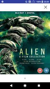 Alien 6 film Collection Blu Ray box set with digital copies New at Music Magpie for £11.09