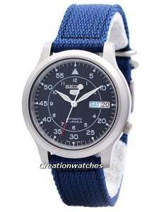 Seiko 5 Military Automatic Nylon Strap SNK807K2 Men's Watch @ CreationWatches for £55