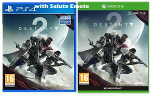 Destiny 2 with Salute Emote (Exclusive to Amazon) (Xbox One/PS4) for £5.99 Prime/£8.98 Non, Delivered @ Amazon UK