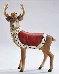 Regal Crowned Stag Christmas Decoration at Very for £10.99 delivered