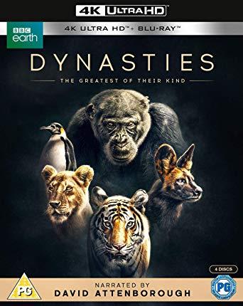 BBC Dynasties 4K Blu-ray £17.49, regular Blu-ray 13.99 at Amazon