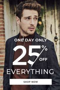 25% off everything @ Burtons Free click and collect (today only)