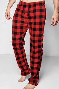 Black and red check fleece pj bottoms £7.50 with free next day delivery(w code) @ boohoo man