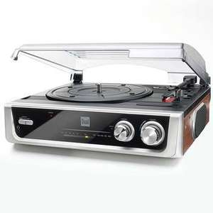 Dual MTR10 Twin Speed Turntable with Built In Speakers and FM Radio in Black and Silver £34.99 at Costco