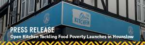 Free Lunch and Dinner Everyday For the Homeless and Struggling Families in Hounslow at The Open Kitchen