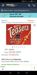Pack of 7 Maltesers teasers for £17.28 (Prime) / £21.77 (non Prime) at Amazon working out at £2.47 a box