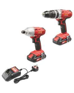 Workzone 18v hammer drill and impact driver £99.99 at Aldi