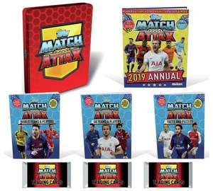 Match Attax Activity Tin - Includes 2019 Annual, 3 packs of Match Attax and 3 fact-filled activity books now £4.99 @ Argos