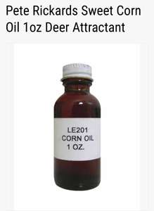 Pete Rickards Sweet Corn Oil 1oz Deer Attractant now £2.00 at bushwear