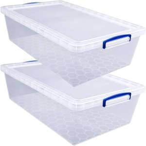 Really Useful 43l Underbed Plastic Storage Box 2 Pack Bundle £12 (Free C&C) @ Hobbycraft (see below for extra 15% off code that may work)