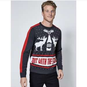 50% off a range of Debenhams Christmas jumpers Women's, Men's and Kids free click and collect with code